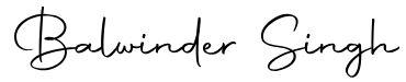 Balwinder Singh signature